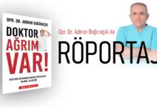 Bild von 'Doktor Ağrım Var!' kitabının yazarı Opr. Dr. Adnan Bağrıaçık Brücke Magazin'e anlattı